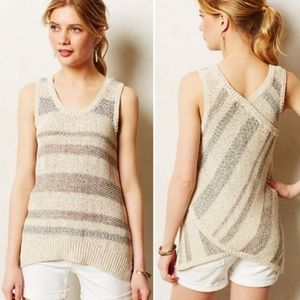 Anthropologie Sparrow striped sweater tank top